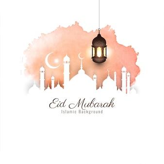 Abstracte mooie eid mubarak religieuze achtergrond