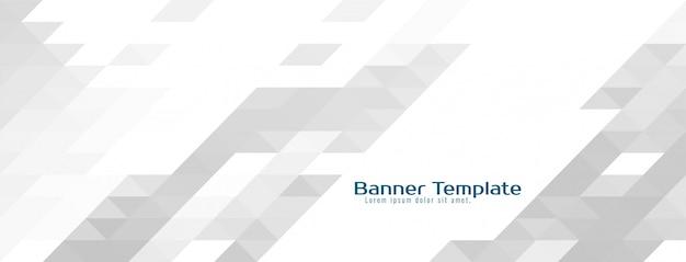 Abstracte mozaïek grijze banner achtergrond