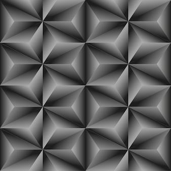Abstracte mozaïekachtergrond. 3d-naadloos geometrisch patroon. vectorillustratie eps10. stijlvolle sjabloon gemaakt van herhalende driehoeken. kristal textuur.