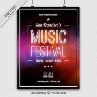 Abstracte muziek festival poster