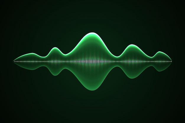 Abstracte muziek geluidsgolf,