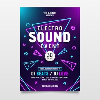 Abstracte muziek partij poster