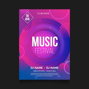 Abstracte muziek poster concept