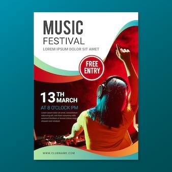 Abstracte muziek poster met foto