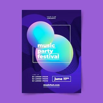 Abstracte muziek poster sjabloon