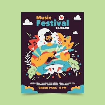 Abstracte muziekfestival poster