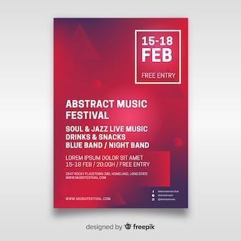 Abstracte muziekfestivalaffiche