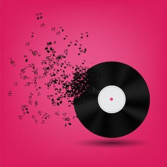 Abstracte muziekillustratie voor uw ontwerp