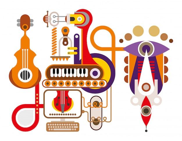 Abstracte muziekmachine