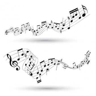 Abstracte muzikale achtergrond
