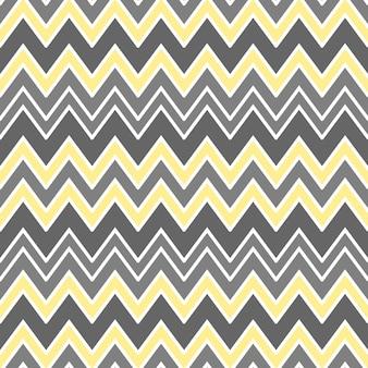 Abstracte naadloze achtergrond vectorillustratie met zigzag lijnen vormen geometrische ornament in geel...