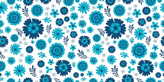 Abstracte naadloze bloemen - exotisch.