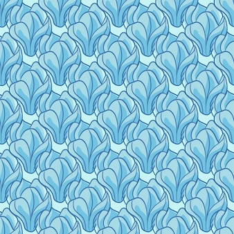 Abstracte naadloze bloemmotief met voorgevormde blauwe kleuren magnolia bloemen silhouetten. decoratieve afdruk. platte vectorprint voor textiel, stof, cadeaupapier, behang. eindeloze illustratie.