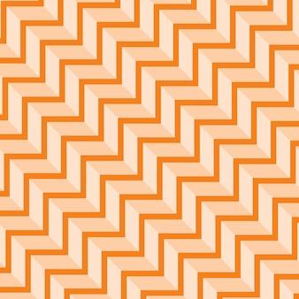 Abstracte naadloze geometrische donkere en licht oranje gekleurde patroonvector illustratie
