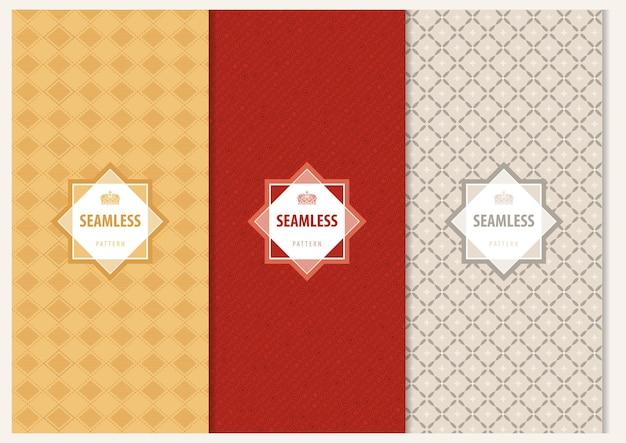Abstracte naadloze geometrische patronen met decoratief tekstkader