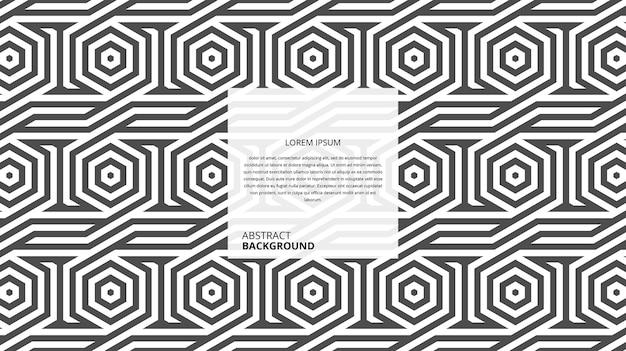 Abstracte naadloze geometrische vorm lijnen patroon