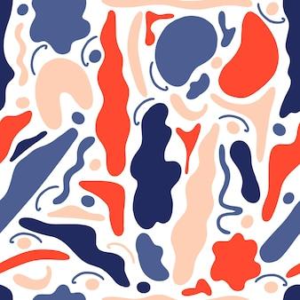 Abstracte naadloze patroon geometrische vormen in de stijl van memphis.