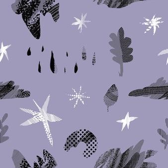 Abstracte naadloze patroon.