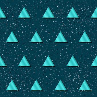 Abstracte naadloze patroonachtergrond. blauwe gradiënt gekleurde driehoek voor ontwerpkaart, uitnodiging, t-shirt, boek, spandoek, poster, plakboek, album, textielstof, kledingstuk, tasafdruk enz.