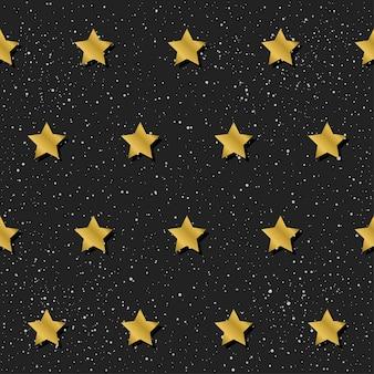 Abstracte naadloze patroonachtergrond. gouden gradiënt gekleurde ster voor ontwerpkaart, uitnodiging, t-shirt, boek, spandoek, poster, plakboek, album, textielstof, kledingstuk, tasafdruk enz.