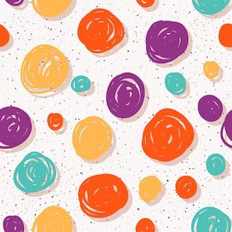 Abstracte naadloze patroonachtergrond. handgemaakt doodle naadloos patroon voor ontwerpkaart, uitnodiging, t-shirt, boek, spandoek, poster, plakboek, album, textielstof, kledingstuk, tasafdruk enz.