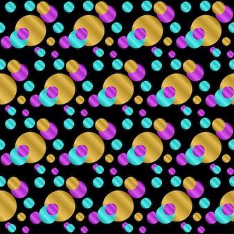 Abstracte naadloze patroonachtergrond. heldere gradiënt gekleurde cirkel voor ontwerpkaart, uitnodiging, t-shirt, boek, spandoek, poster, plakboek, album, textielstof, kledingstuk, tasafdruk enz.