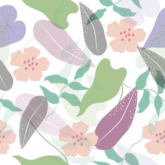 Abstracte naadloze tropische bloemen oppervlaktepatroon achtergrond