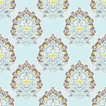 Abstracte naadloze vintage luxe sier vector patroon voor stof.