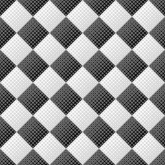 Abstracte naadloze zwart-wit vierkante patroonachtergrond