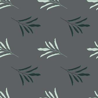 Abstracte natuur naadloze patroon met kruiden eenvoudige blad takken vormen