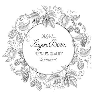 Abstracte natuurlijke organische vintage label