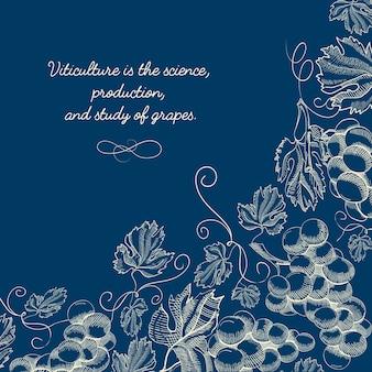 Abstracte natuurlijke schets blauwe sjabloon
