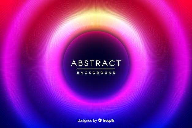Abstracte neon cirkels achtergrond
