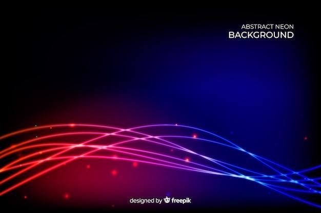Abstracte neon lijnen achtergrond