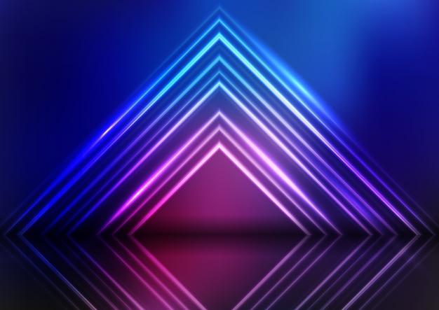 Abstracte neon ontwerp presentatie achtergrond