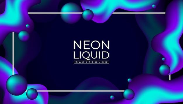 Abstracte neon vloeibare achtergrond
