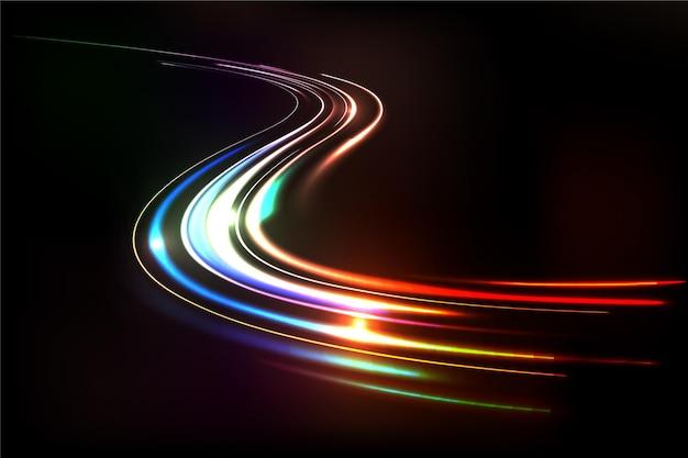 Abstracte neonlichten achtergrond Gratis Vector
