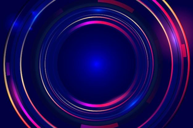 Abstracte neonlichten behangstijl