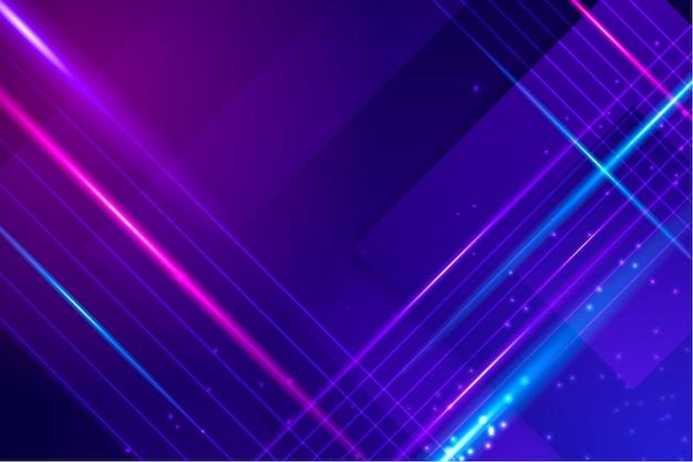 Abstracte neonlichtenachtergrond