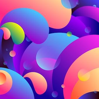 Abstracte neonvloeistof en vloeibare gradiëntachtergrond.