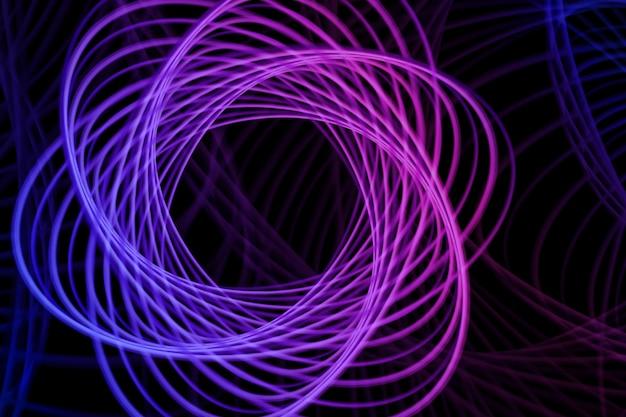 Abstracte neonvorm, futuristische golvende fractal achtergrond.