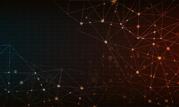 Abstracte netwerkachtergrond met cirkel