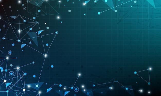 Abstracte netwerkachtergrond met cirkel Premium Vector