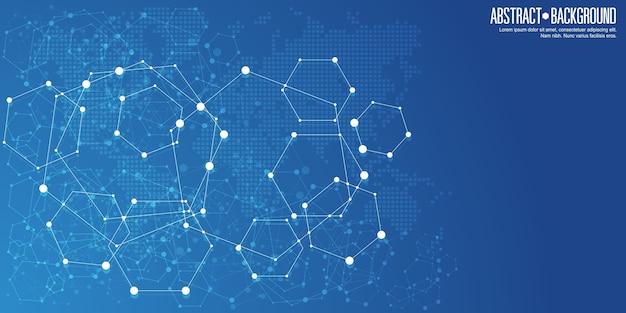 Abstracte netwerkverbindingen achtergrond