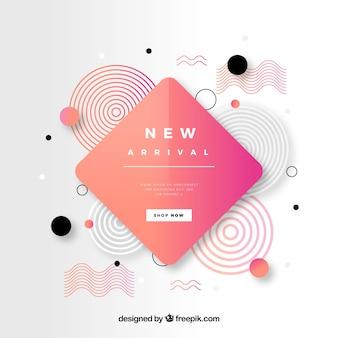 Abstracte nieuwe aankomstsamenstelling met vlak ontwerp
