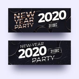 Abstracte nieuwe jaar 2020 partijbanners