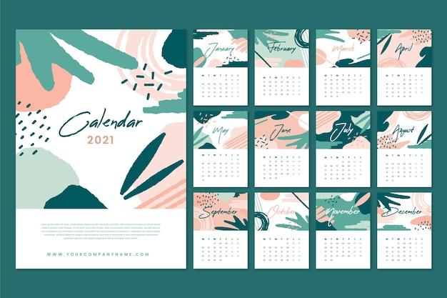 Abstracte nieuwe jaarkalender 2021