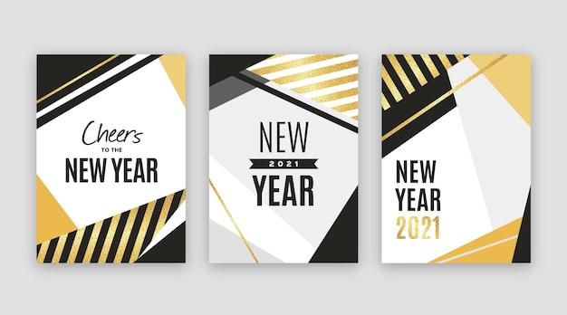 Abstracte nieuwjaarskaarten 2021