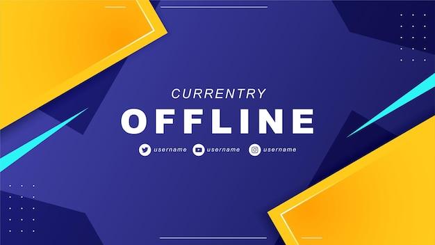 Abstracte offline twitch-banner in gamerstijl 7