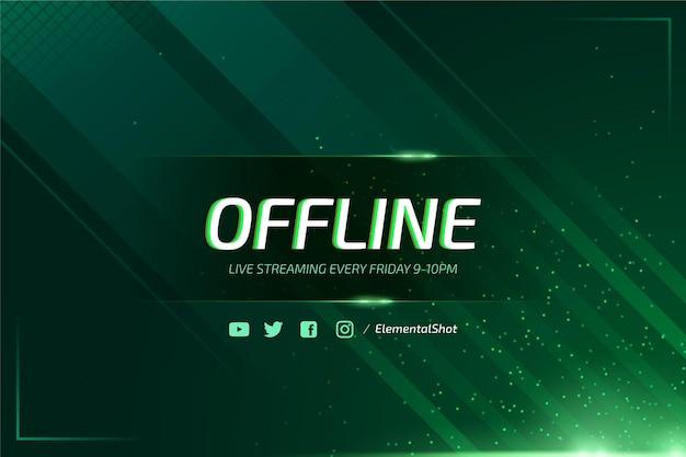 Abstracte offline twitch banner met neon deeltjes